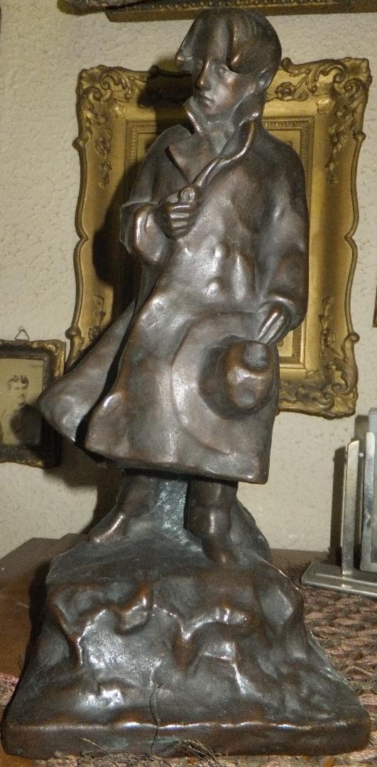 Statuetă; Om cu pălărie - Colecţia dr. Petru Groza