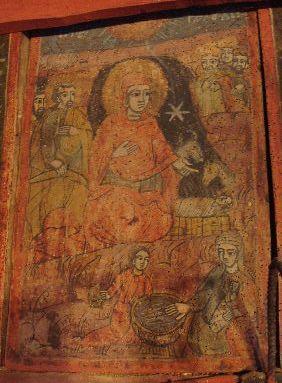 Icoană; Naşterea Domnului - Biserica Veţeni - BĂRĂŞTI