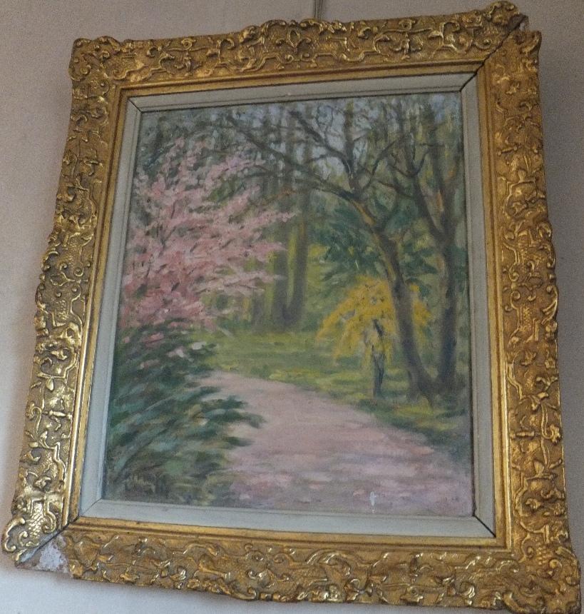 Tablou - Kimon Loghi; Peisaj de parc primăvara - Colecţia dr. Petru Groza